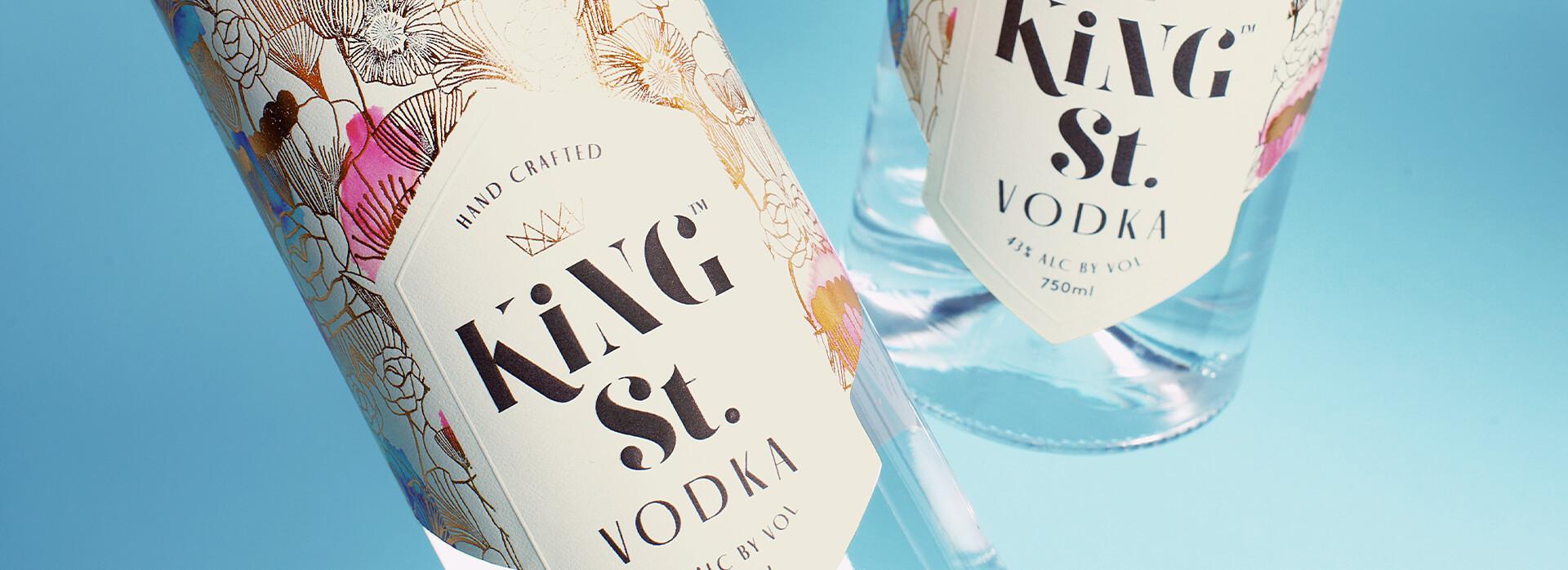 2 Bottles of King St Vodka.
